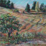 """""""Farmscape"""" 9X12 Pastel $200"""