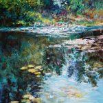"""Liberty Mill Pond Reflection""  9x12 Pastel NFS"