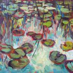 """""""Smaller Lily Pads"""" 12X16 acrylic $400"""