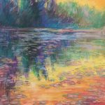 """""""Sunset at Mill Pond"""" 9x12 Pastel NFS"""