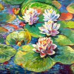 """""""Max's Lily Pads"""" 16x20 Acrylic NFS"""