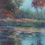 Across the Mill Pond Sharon Sunday Pastel 9x12 $200