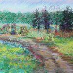Adrian Landscape Sharon Sunday Pastel 9x12 NFS