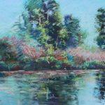 Calm Reflection Sharon Sunday Pastel 12x9 NFS