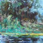 Cascades in Broad Strokes Sharon Sunday Pastel 9x12 $200