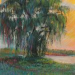 Curtis Farm Willow Tree Sharon Sunday Pastel 9x12 NFS