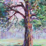 Kimmel Road Tree Sharon Sunday Pastel 8x12 $200