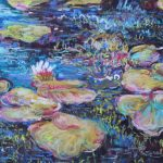 Lily Pads in the Morning Sharon Sunday Pastel 9x12 $200
