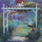 Martha's Garden Sharon Sunday Pastel 9x12 $200