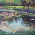 Overlooking the Pond Sharon Sunday Pastel 9x12 $200