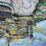 Reflection of the Old Bridge Sharon Sunday Pastel 9x12 $200