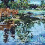 Spring Reflection Sharon Sunday Pastel 9x12 $200