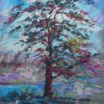 The Lone Tree Sharon Sunday Pastel 9x12 $200