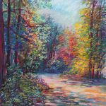 The Path In The Woods Sharon Sunday Pastel 9x12 $200