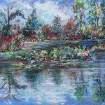 The Secret Pond Sharon Sunday Pastel 9x12 $200