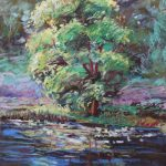 Tree at Hidden Lake Gardens Sharon Sunday Pastel 9x12 $200