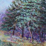 Trees of Wheaton Rd Sharon Sunday Pastel 9x12 $200