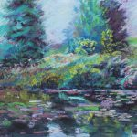View from the Pond Sharon Sunday Pastel 9x12 $200